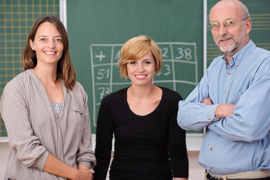 Three Teachers in Classroom